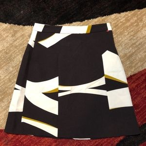 Zara NWOT Colorblock Circle Skirt